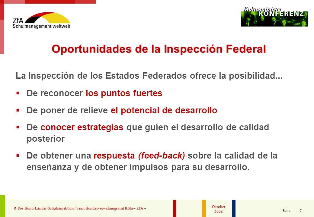 Oportunidades de la Inspección Federal