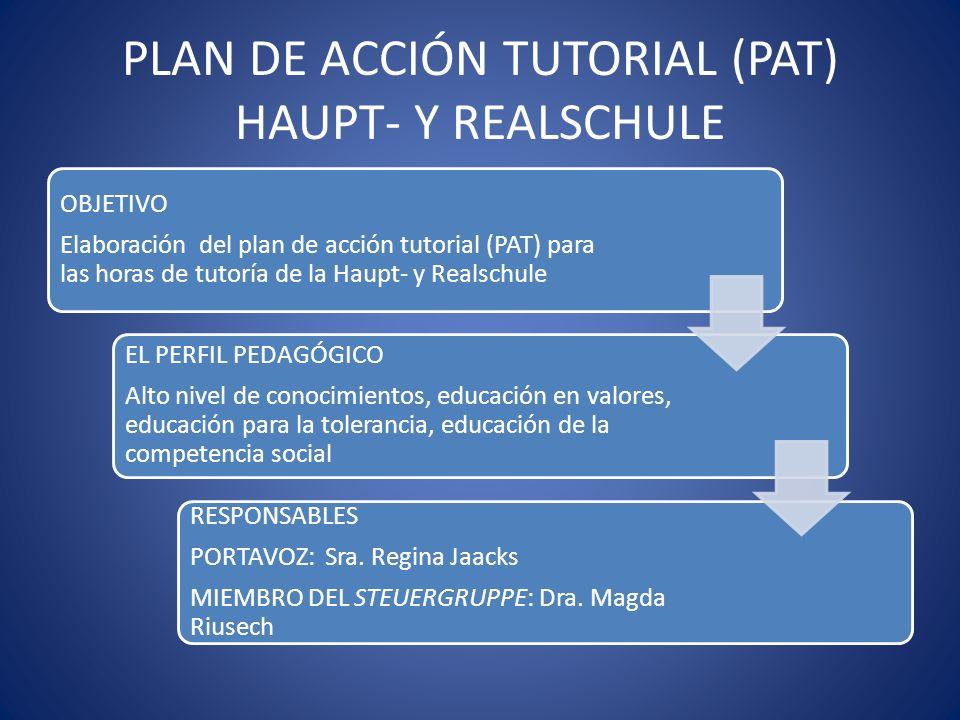 PLAN DE ACCIÓN TUTORIAL (PAT) HAUPT- Y REALSCHULE