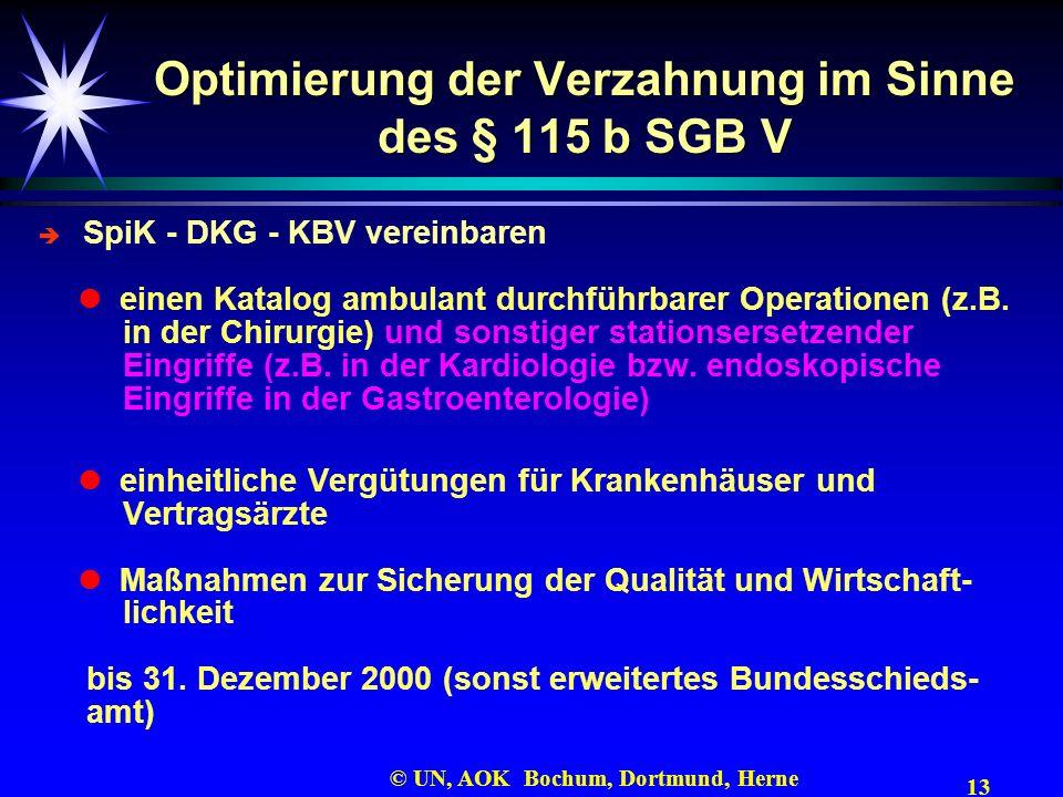 Optimierung der Verzahnung im Sinne des § 115 b SGB V