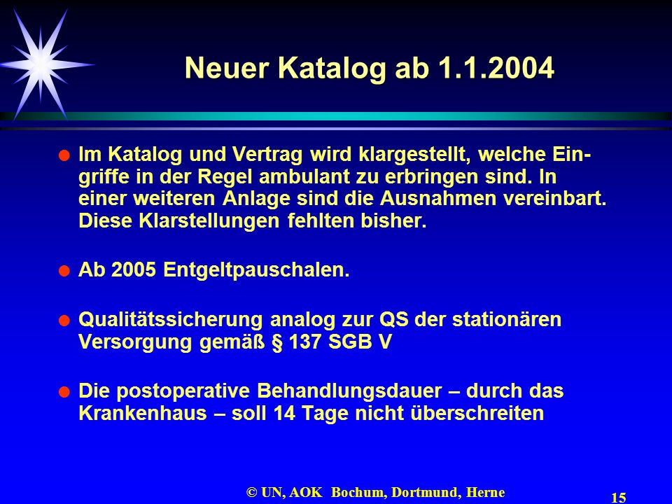 Neuer Katalog ab 1.1.2004