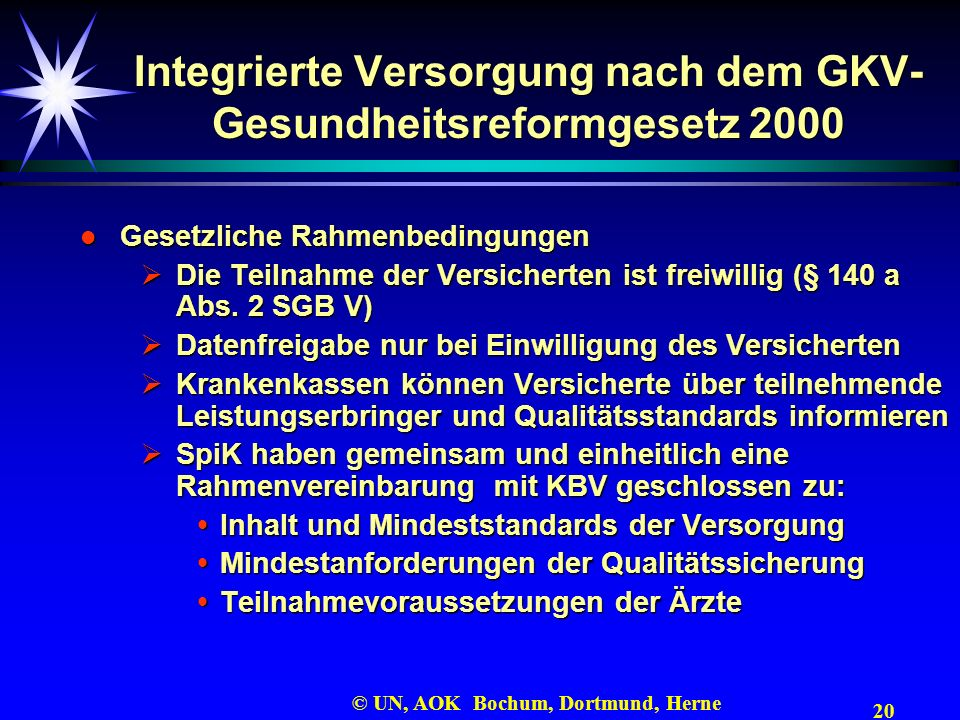 Integrierte Versorgung nach dem GKV-Gesundheitsreformgesetz 2000