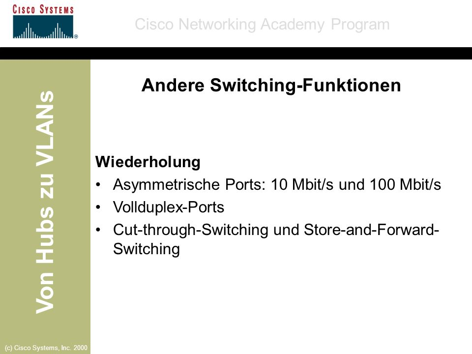 Andere Switching-Funktionen