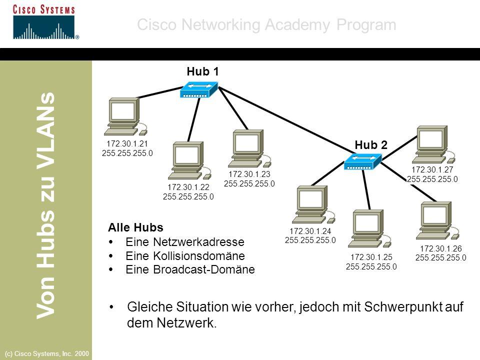 Gleiche Situation wie vorher, jedoch mit Schwerpunkt auf dem Netzwerk.