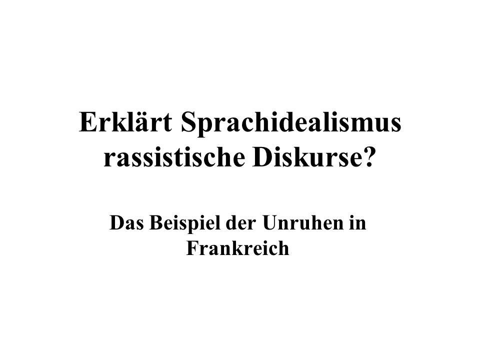 Erklärt Sprachidealismus rassistische Diskurse