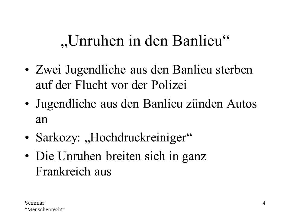 """""""Unruhen in den Banlieu"""