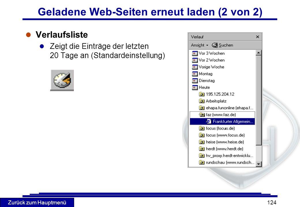 Geladene Web-Seiten erneut laden (2 von 2)