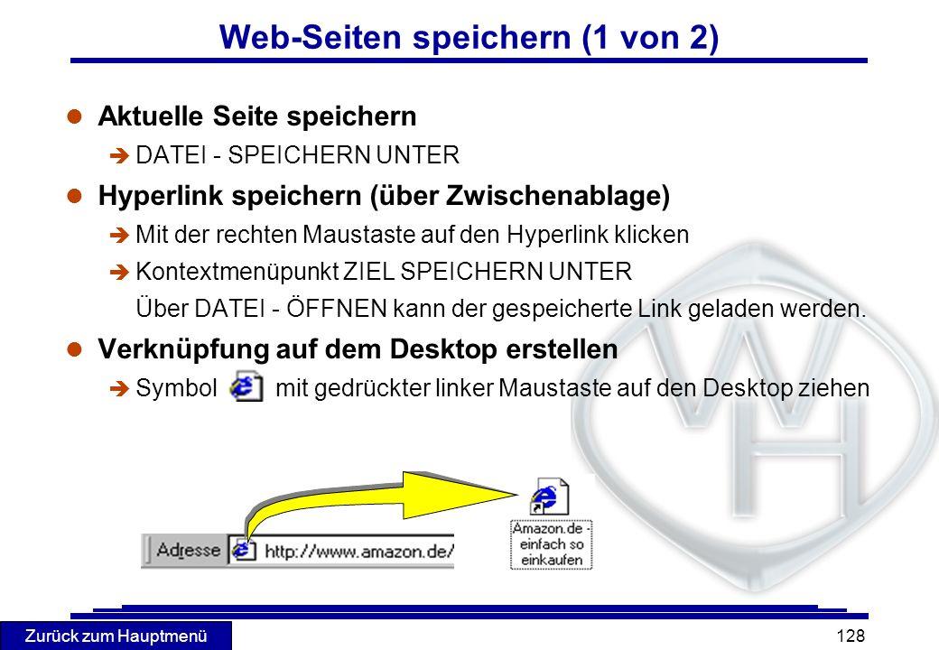 Web-Seiten speichern (1 von 2)