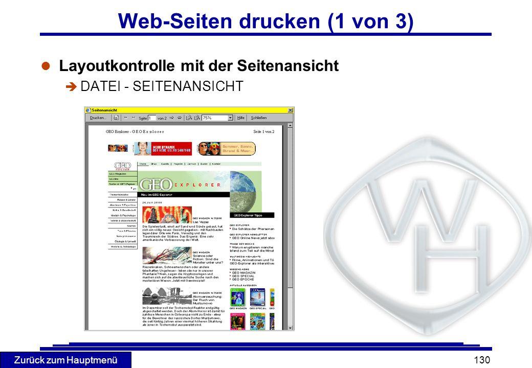 Web-Seiten drucken (1 von 3)