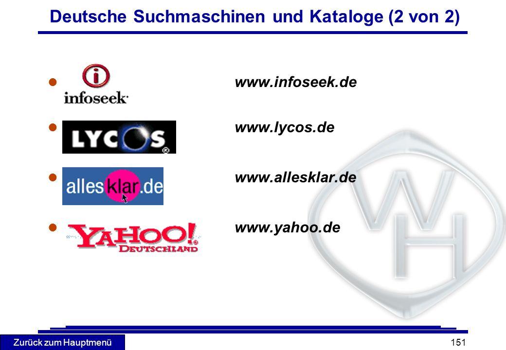 Deutsche Suchmaschinen und Kataloge (2 von 2)