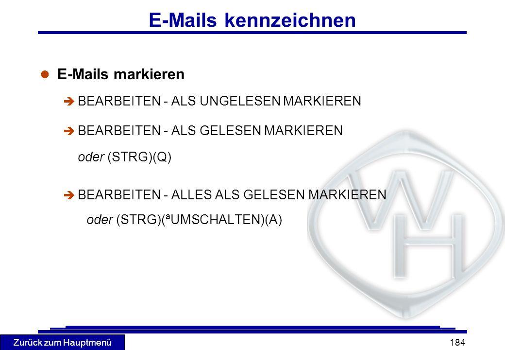 E-Mails kennzeichnen E-Mails markieren