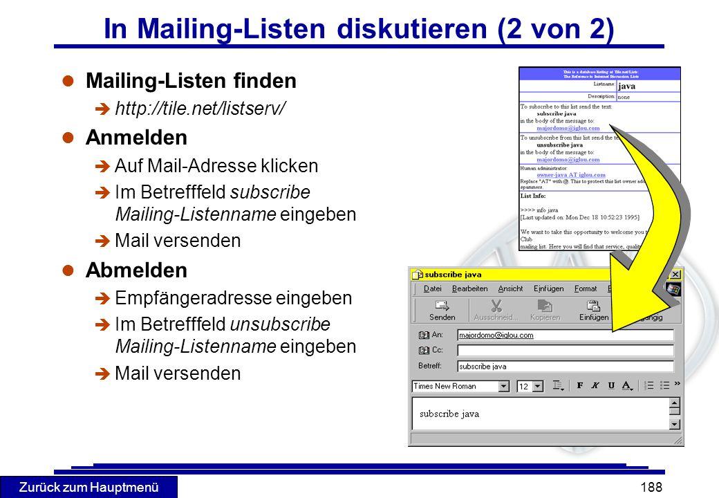 In Mailing-Listen diskutieren (2 von 2)