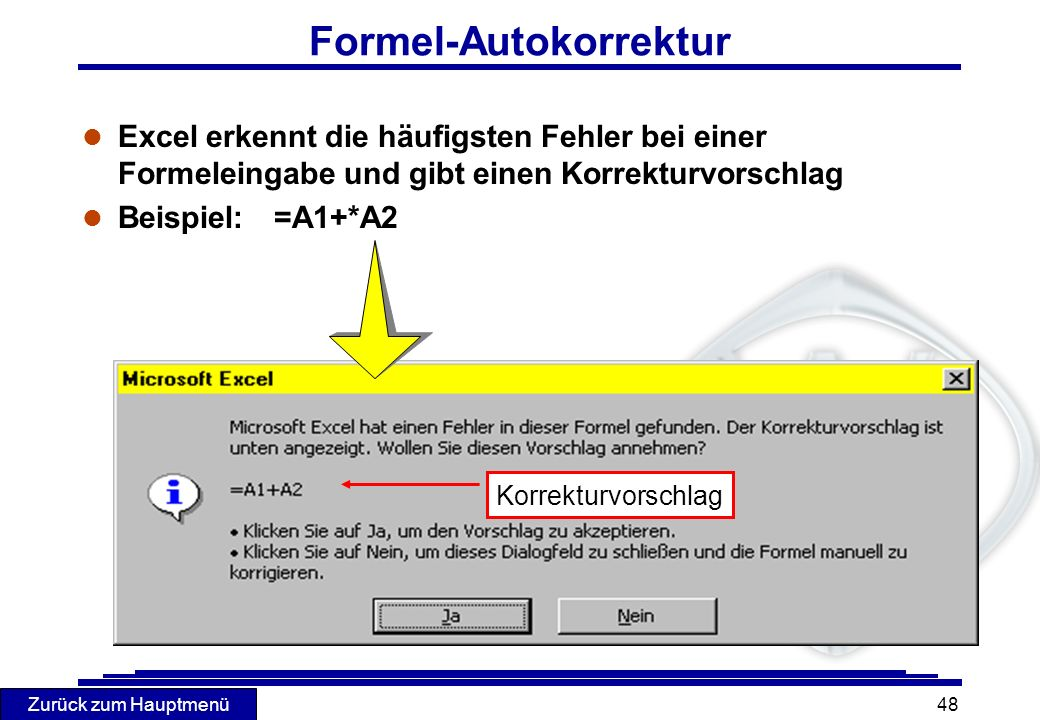 Formel-Autokorrektur