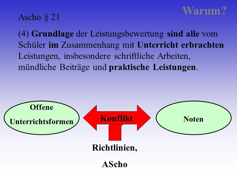 Warum Ascho § 21.