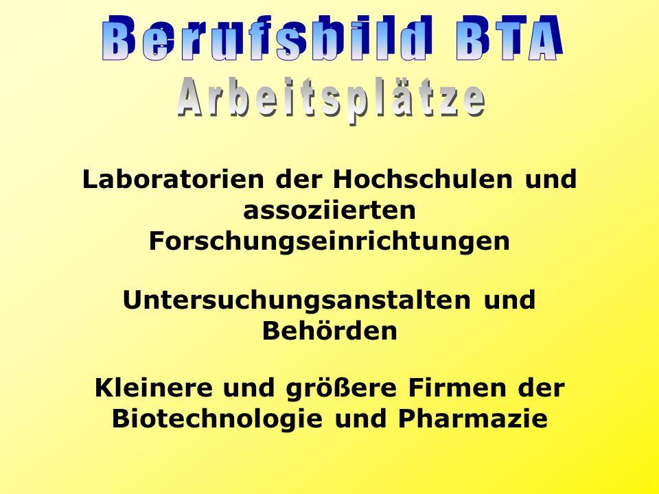 Berufsbild BTA Arbeitsplätze