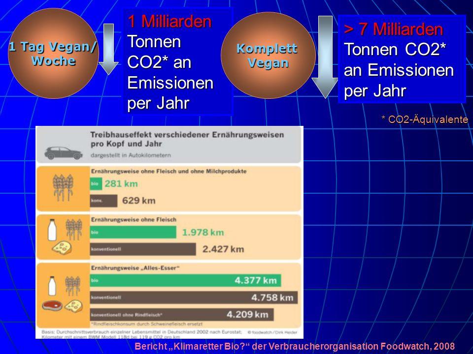 1 Milliarden Tonnen CO2* an Emissionen per Jahr