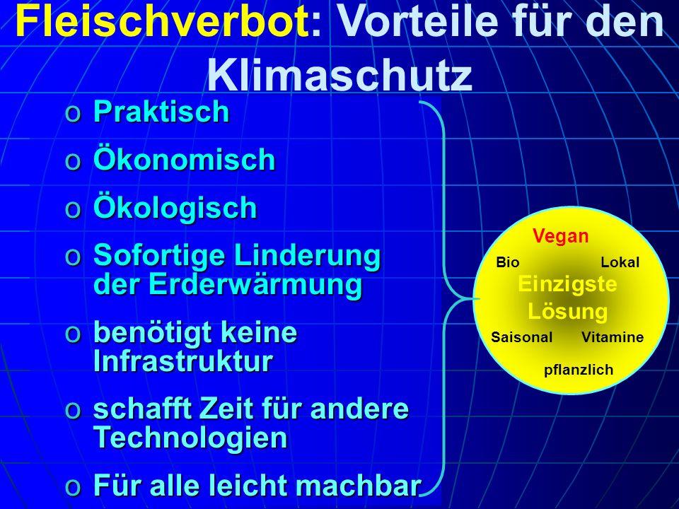 Fleischverbot: Vorteile für den Klimaschutz