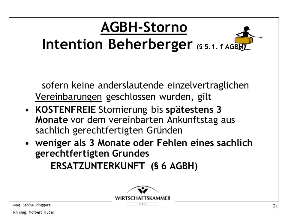 AGBH-Storno Intention Beherberger (§ 5.1. f AGBH)