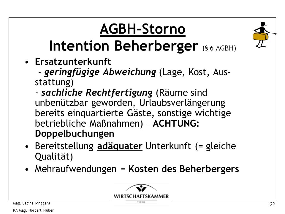 AGBH-Storno Intention Beherberger (§ 6 AGBH)