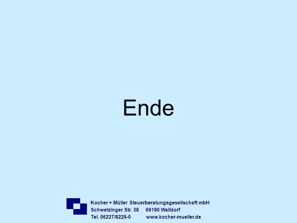 Ende Kocher + Müller Steuerberatungsgesellschaft mbH