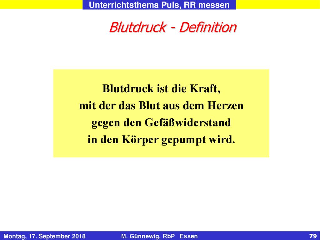 Blutdruck - Definition