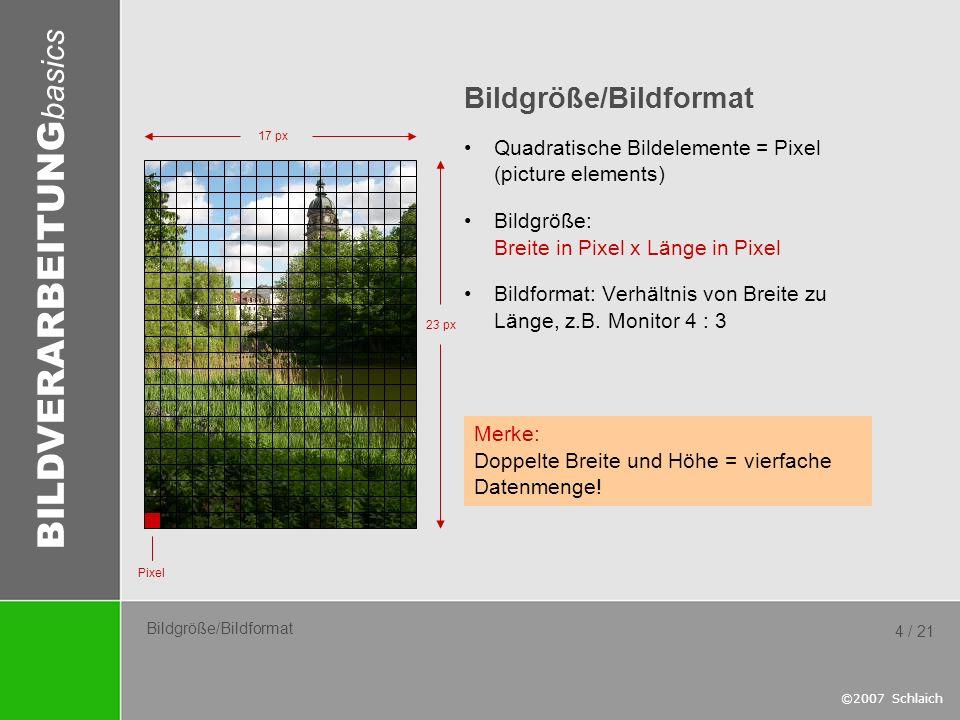 Bildgröße/Bildformat