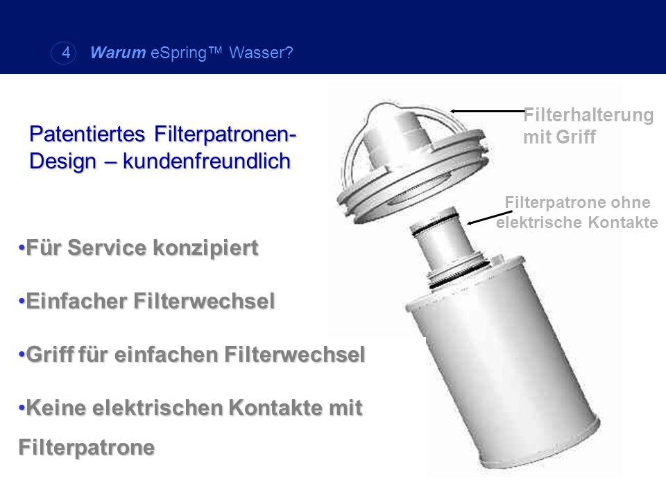 Filterpatrone ohne elektrische Kontakte