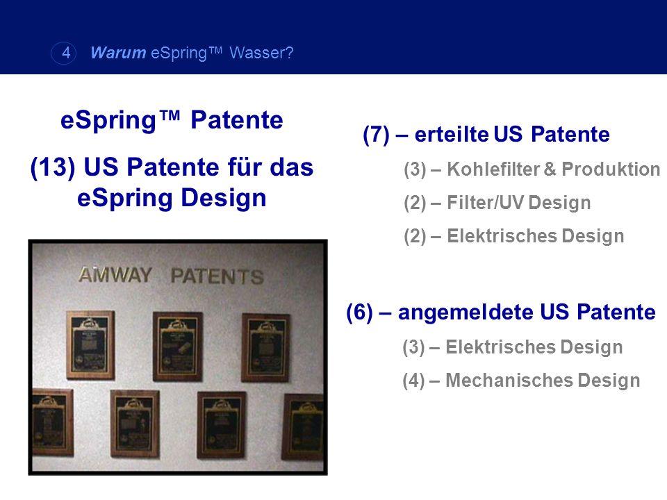 (13) US Patente für das eSpring Design