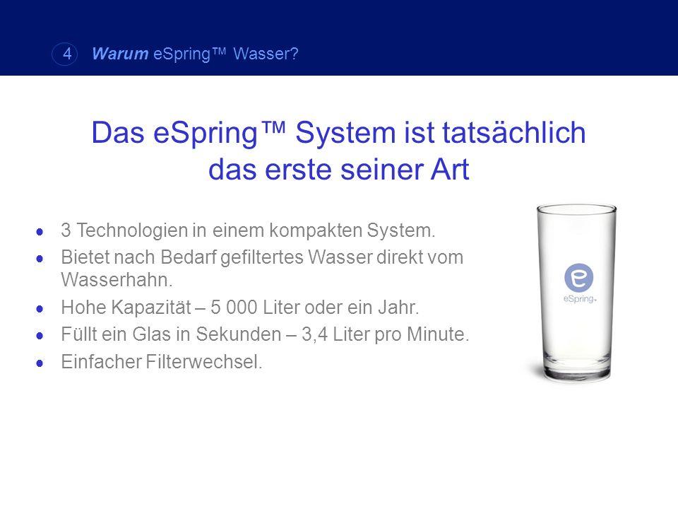 Das eSpring™ System ist tatsächlich das erste seiner Art