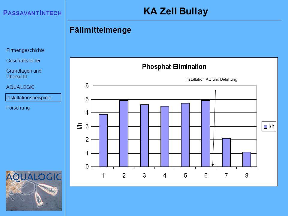 KA Zell Bullay Fällmittelmenge Installation AQ und Belüftung