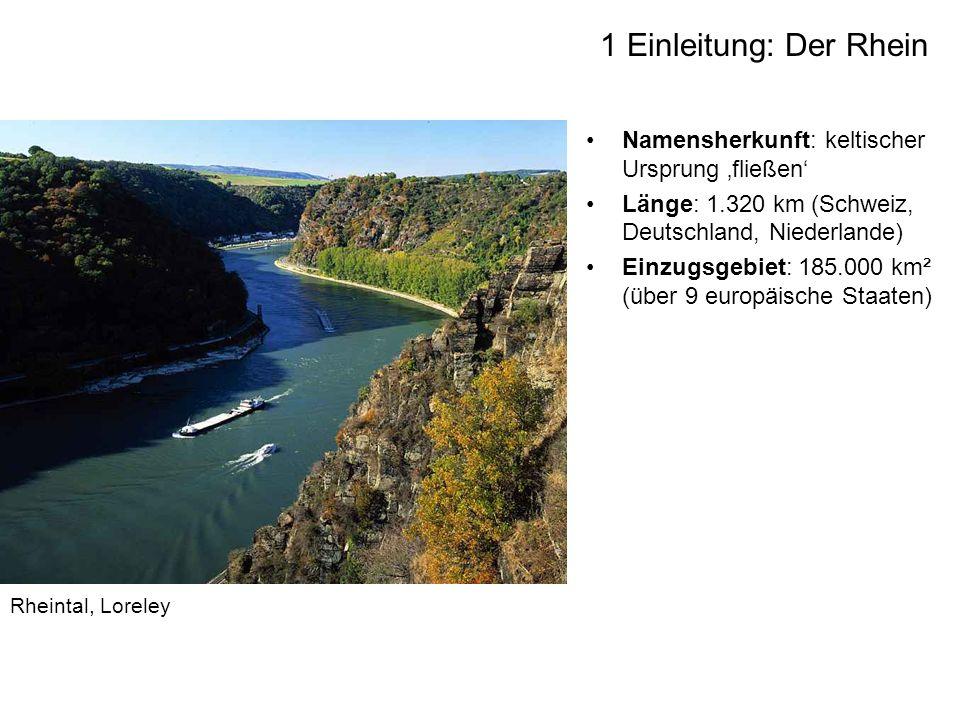 1 Einleitung: Der Rhein Namensherkunft: keltischer Ursprung 'fließen'