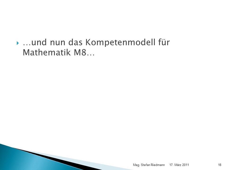 …und nun das Kompetenmodell für Mathematik M8…