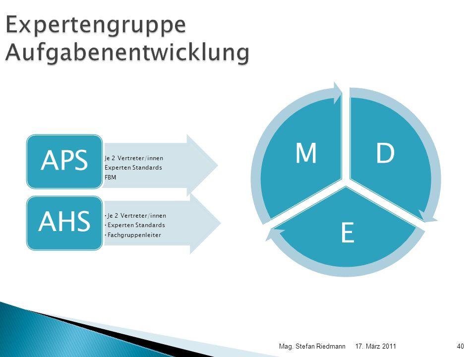 Expertengruppe Aufgabenentwicklung