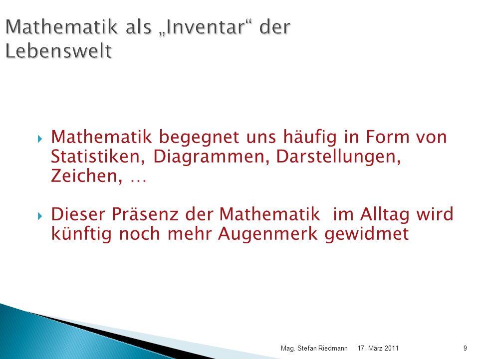 """Mathematik als """"Inventar der Lebenswelt"""