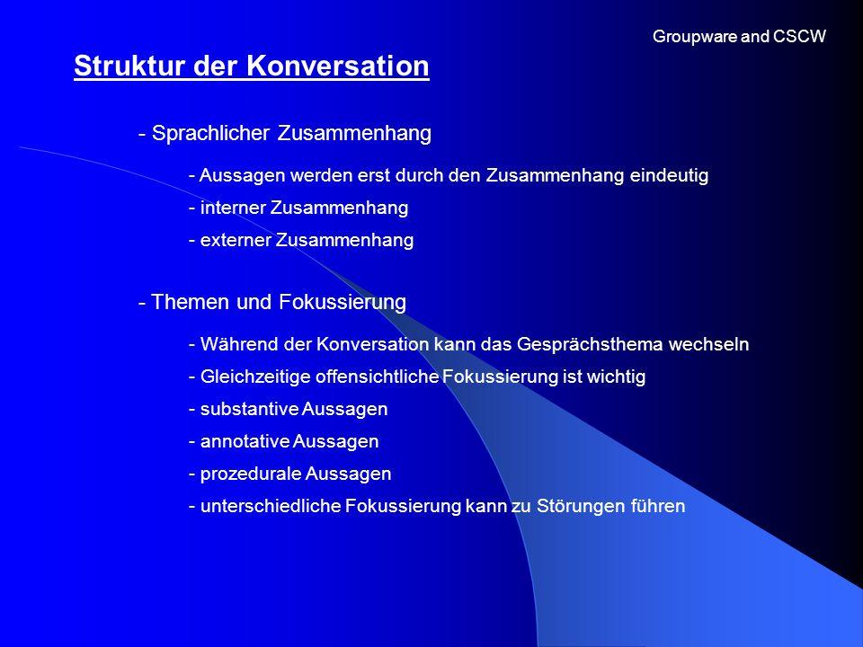 Struktur der Konversation