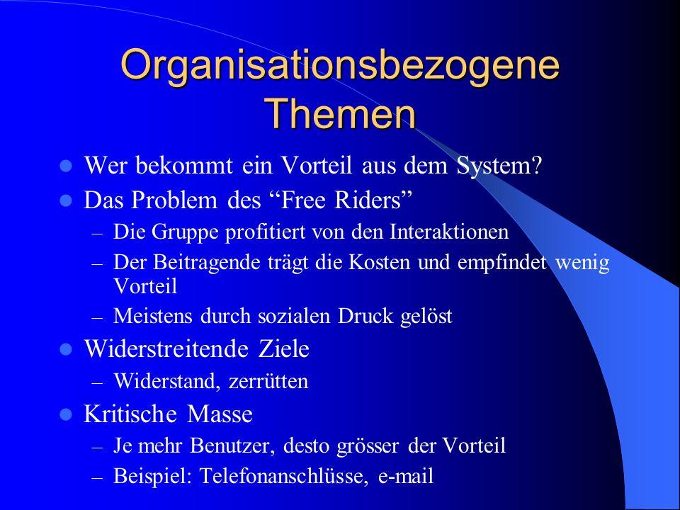 Organisationsbezogene Themen