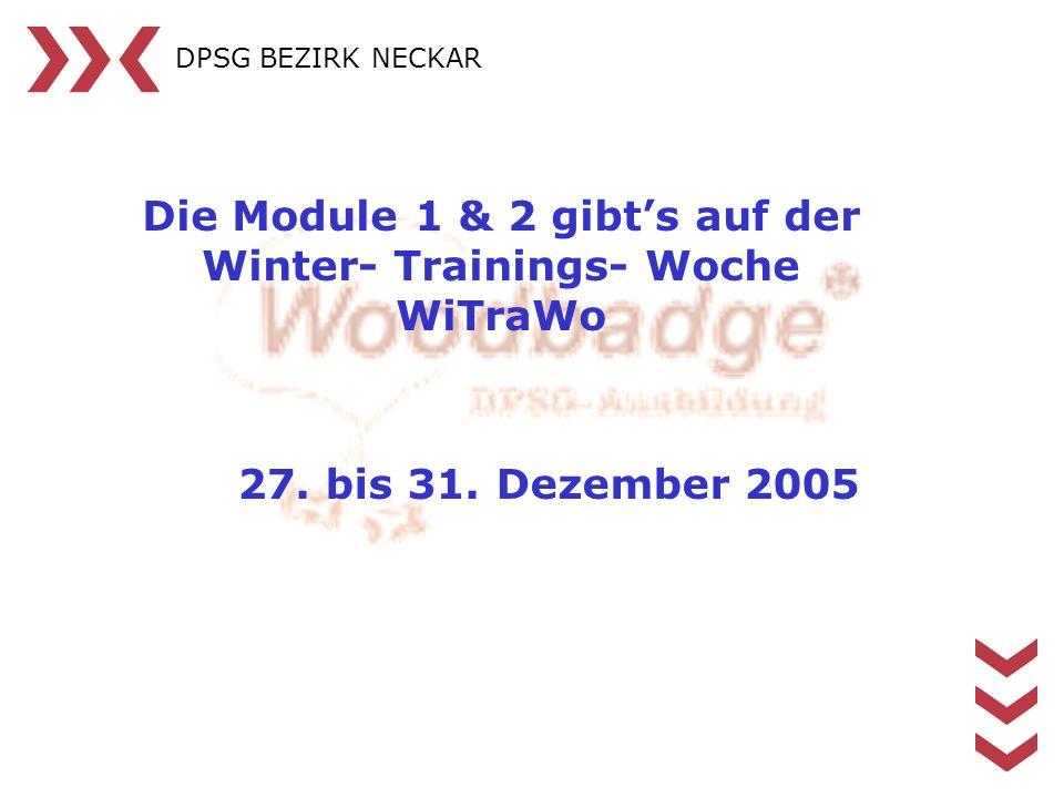 Die Module 1 & 2 gibt's auf der Winter- Trainings- Woche