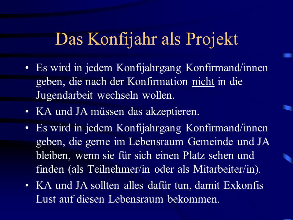 Das Konfijahr als Projekt