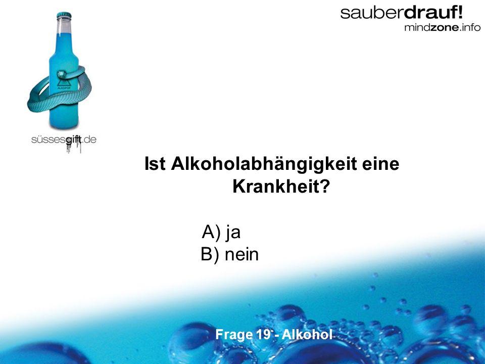 Ist Alkoholabhängigkeit eine Krankheit