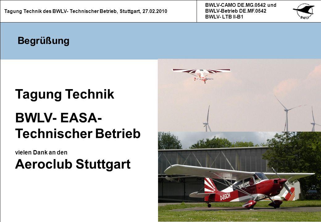 BWLV- EASA- Technischer Betrieb