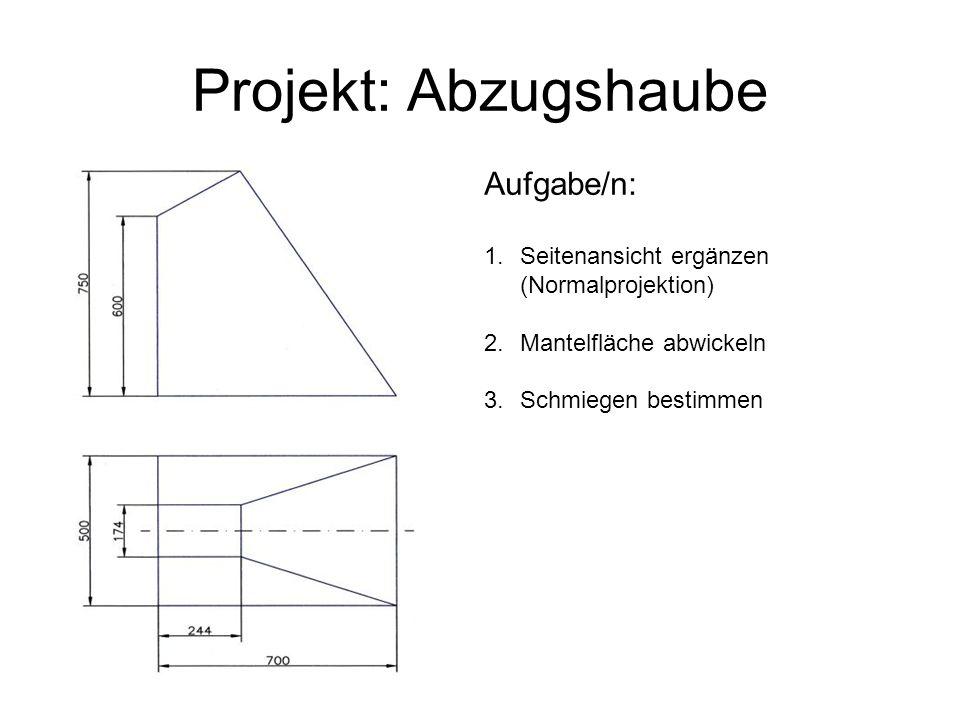 Projekt: Abzugshaube Aufgabe/n:
