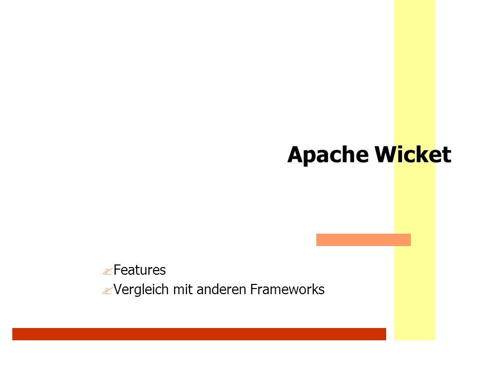 Features Vergleich mit anderen Frameworks