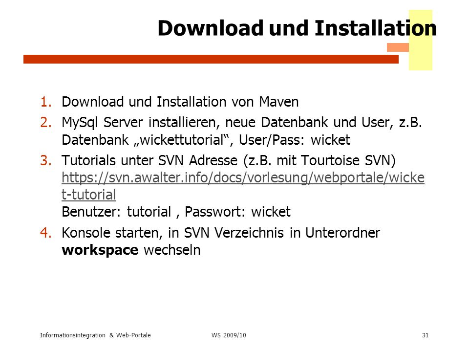 Download und Installation