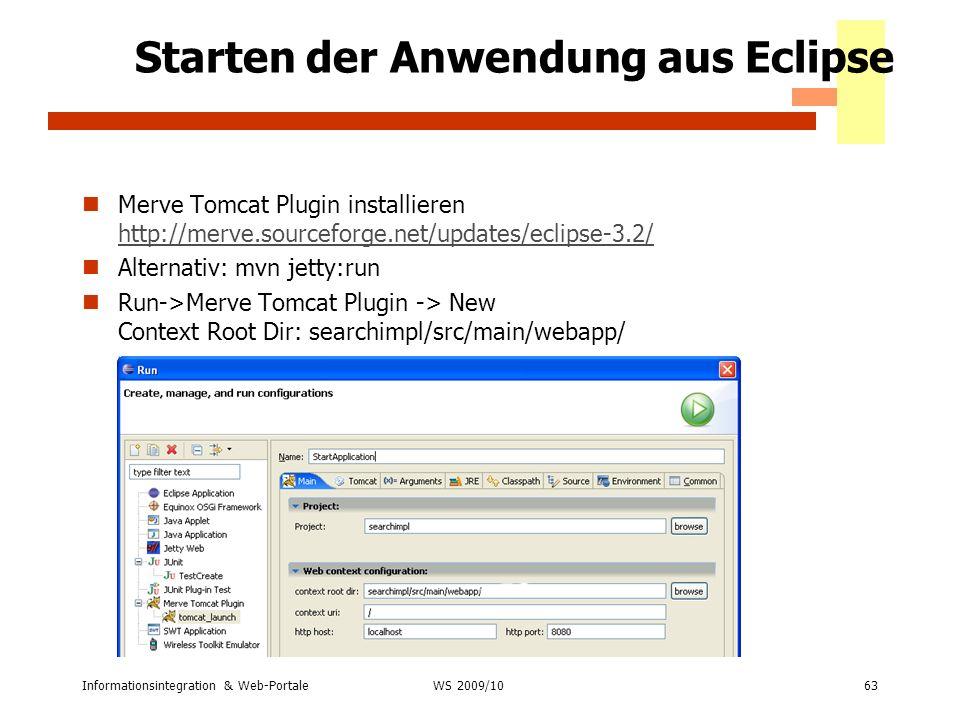 Starten der Anwendung aus Eclipse