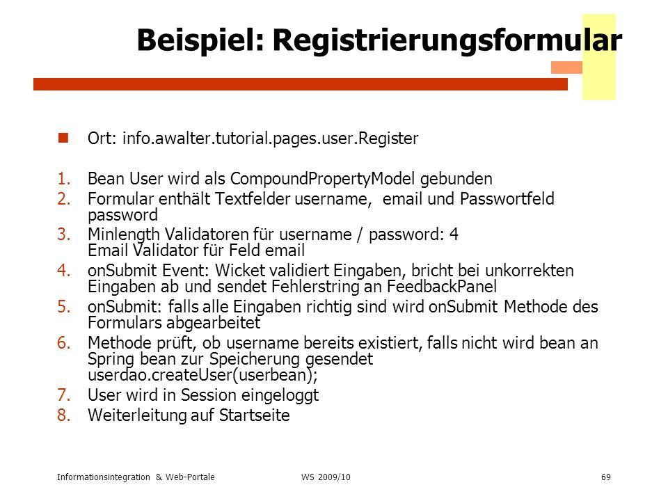Beispiel: Registrierungsformular
