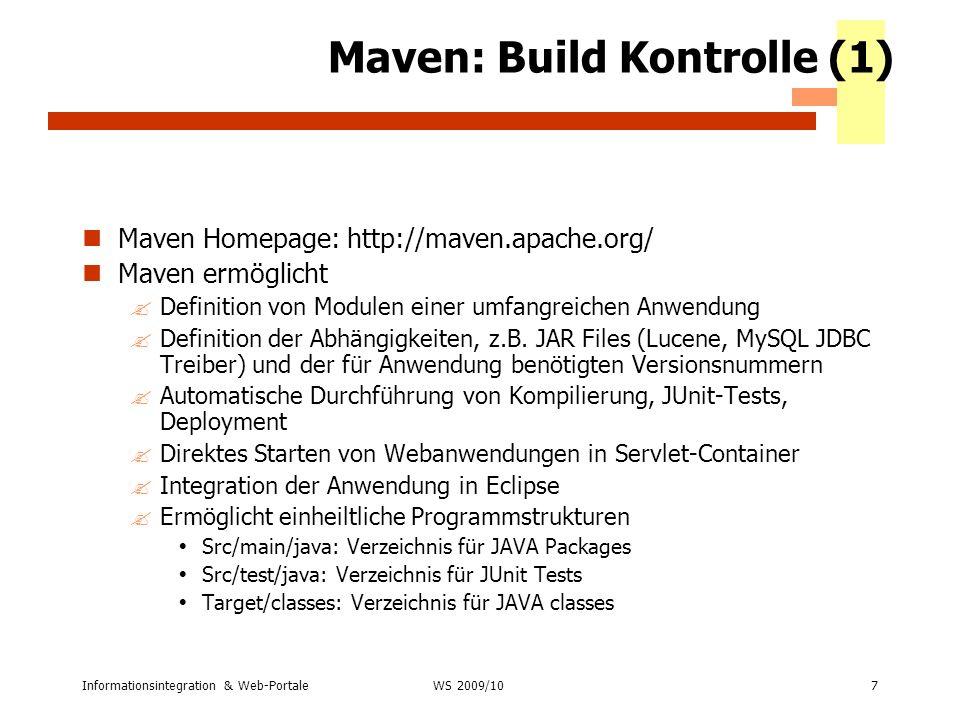 Maven: Build Kontrolle (1)