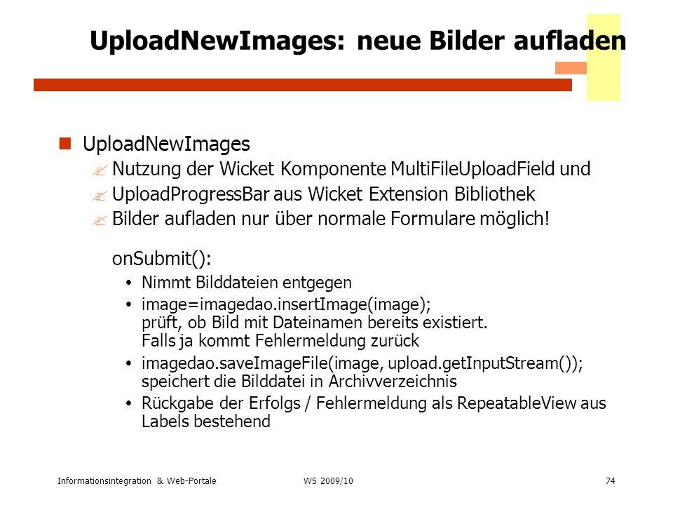 UploadNewImages: neue Bilder aufladen