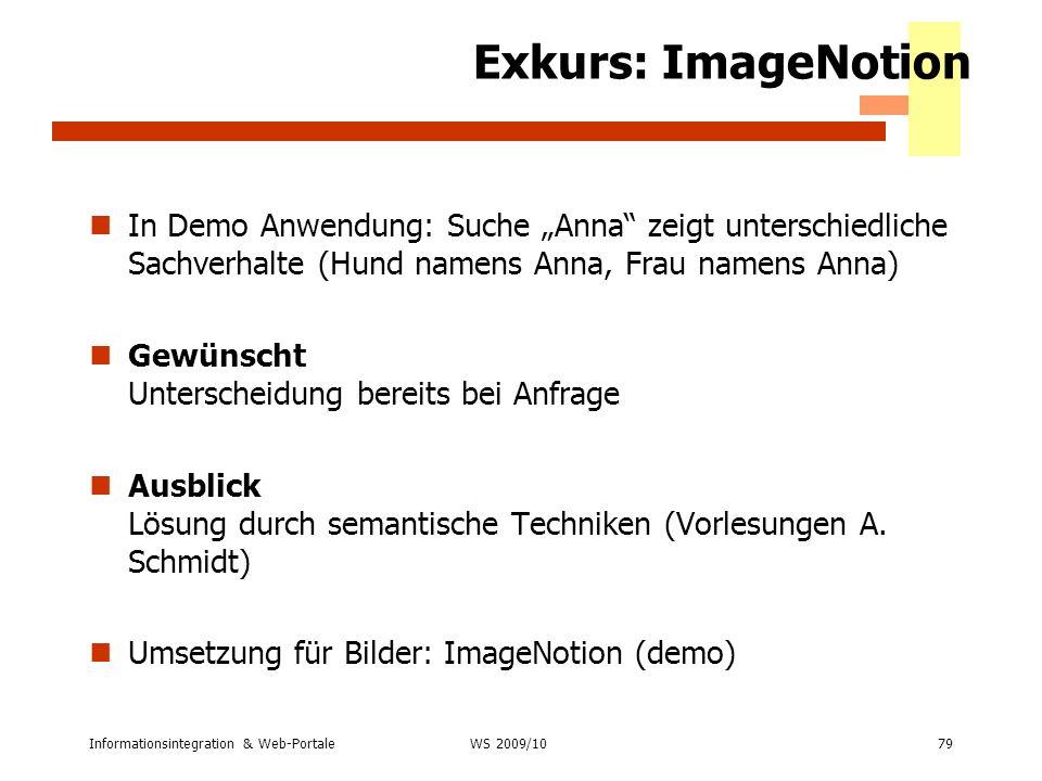 """Exkurs: ImageNotionIn Demo Anwendung: Suche """"Anna zeigt unterschiedliche Sachverhalte (Hund namens Anna, Frau namens Anna)"""