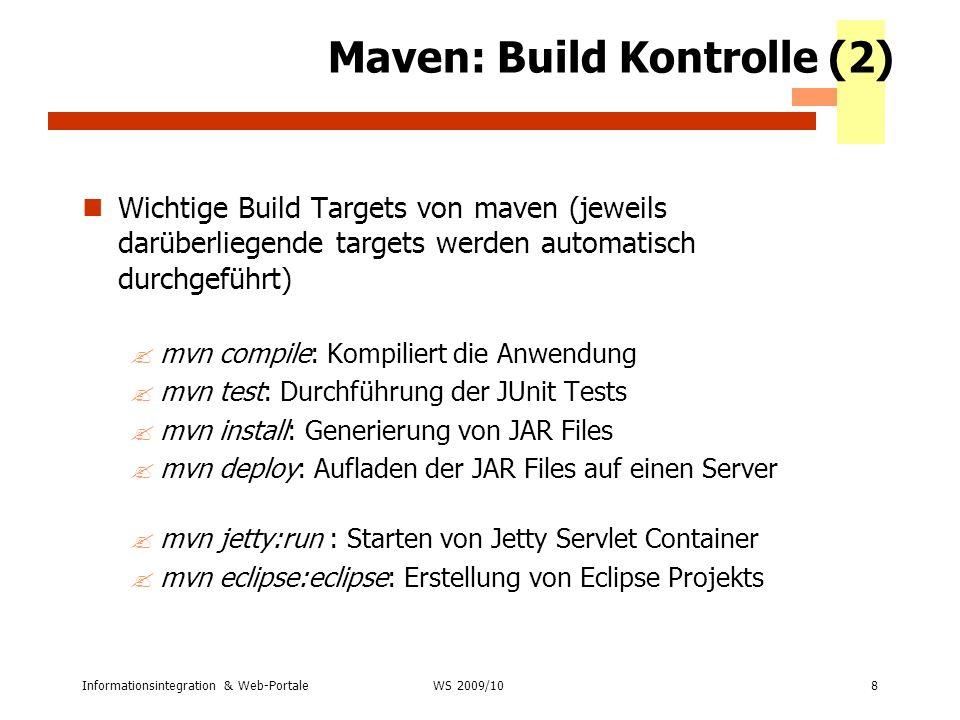 Maven: Build Kontrolle (2)