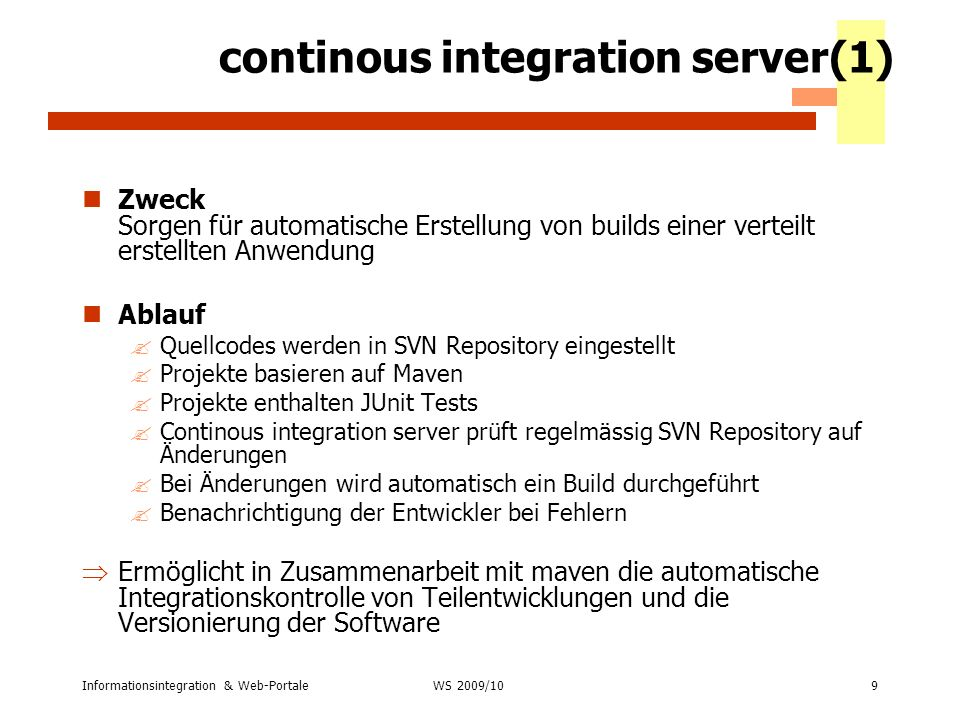 continous integration server(1)