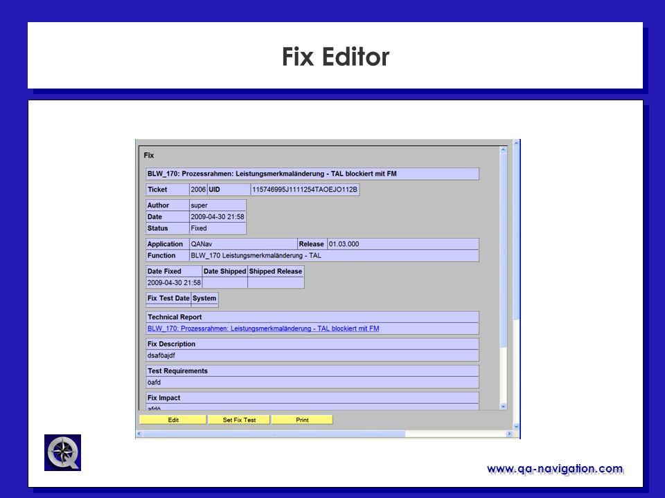 Fix Editor